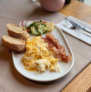 jajecznica najlepsze śniadanie łódź