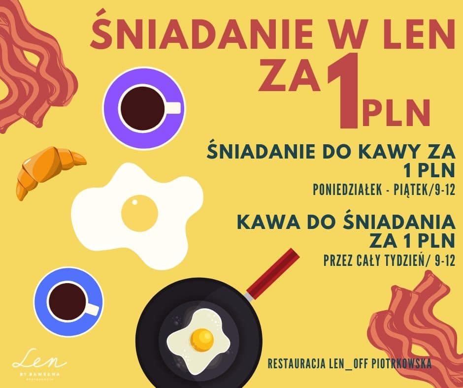 Śniadania w Len za 1 PLN
